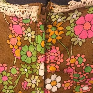 Dresses - Vintage Flower Power Maxi Dress Size small.
